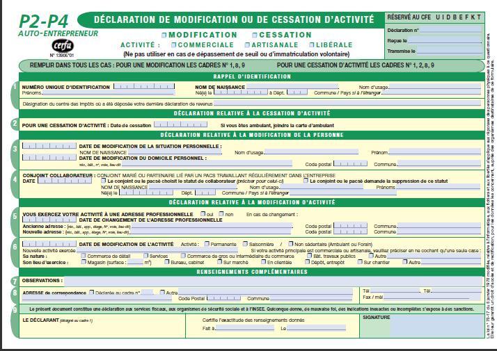 Declaration De Modification Ou De Cessation D Activite Blog Ab Office